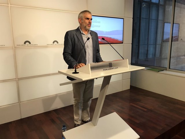 El portavoz de Cs en el Parlament, Carlos Carrizosa