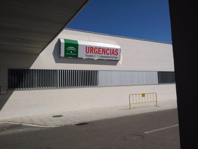 """Satse alerta de """"déficit"""" de personas en las urgencias del Hospital de Écija"""