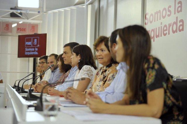 Pedro Sánchez preside la Ejecutiva Federal del PSOE