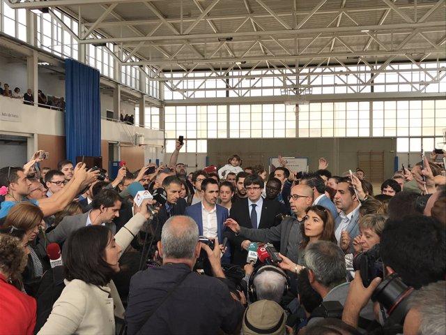 El pte.C.Puigdemont donde iba a votar en el referéndum del 1-O
