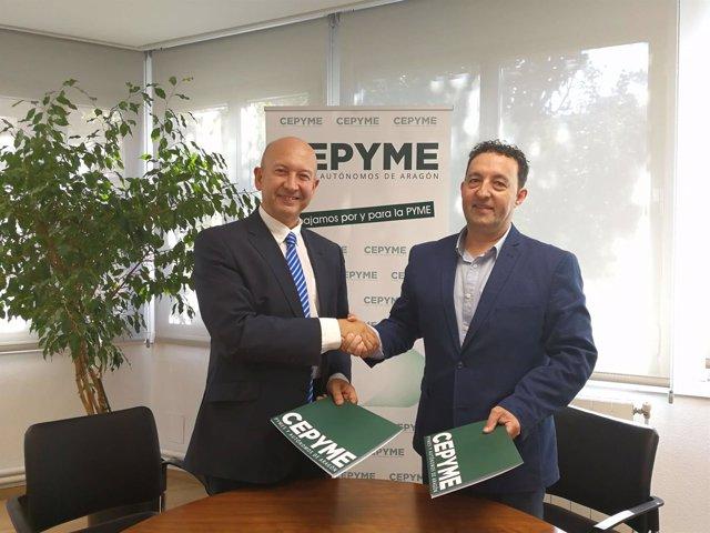 Firma del convenio entre CEPYME y ControlPlan.