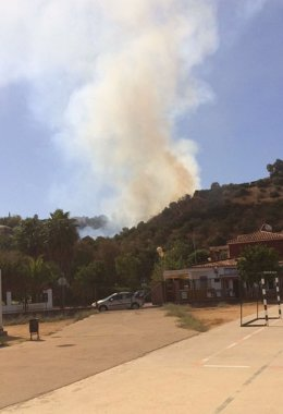 Incendio en Gelves.