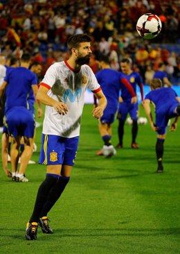 Gerard Piqué con la selección española