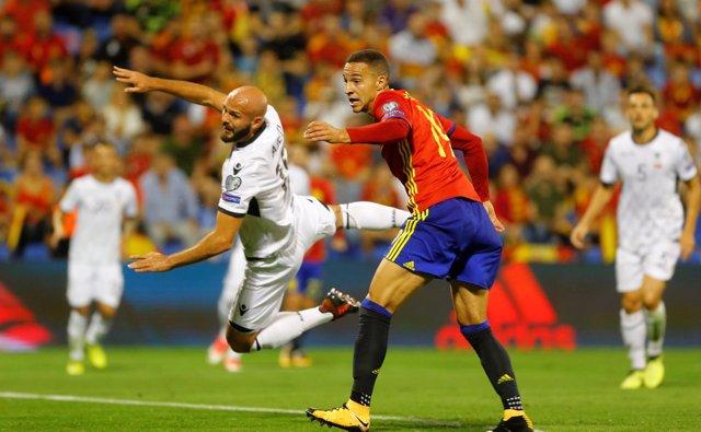 Rodrigo Moreno con la selección española