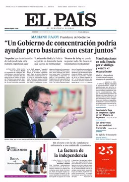 Portada El País 8 de octubre