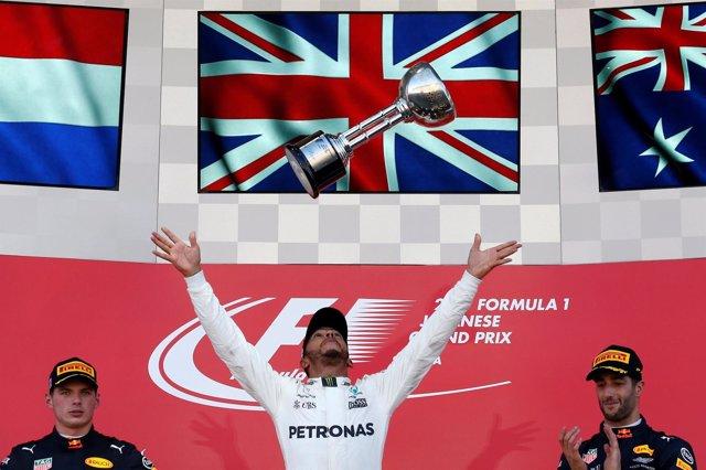 Lewis Hamilton Max Verstappen Daniel Ricciardo Japón