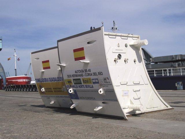 Tuneladora de la SE-40.