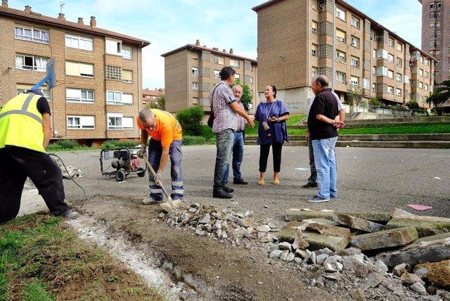 Mejora de plaza y aparcamiento en Cardenal Herrera Oria
