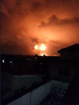 Explosión en Ghana