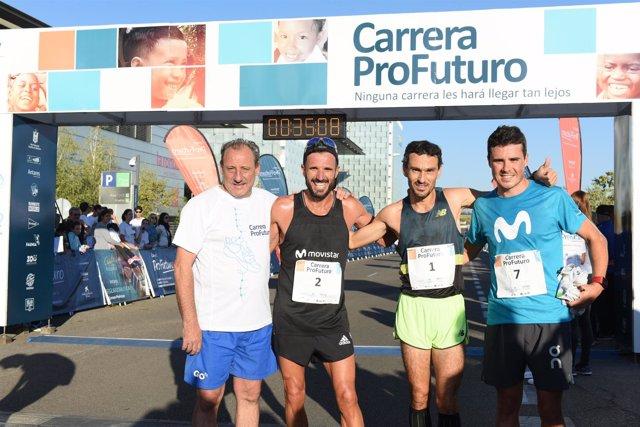 Fermín Cacho, Chema Martínez, Jesús España y Gómez Noya II Carrera ProFuturo