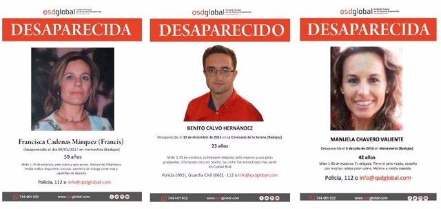 Desaparecidos en Extremadura