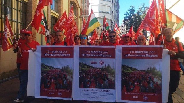 La marcha riojana ha discurrido de Navarrete a Logroño