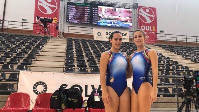 Las gimnastas españolas Cristina Masfret y Cristina Sainz