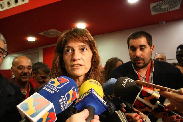 Carmen Dueso este domingo tras conocer los resultados.