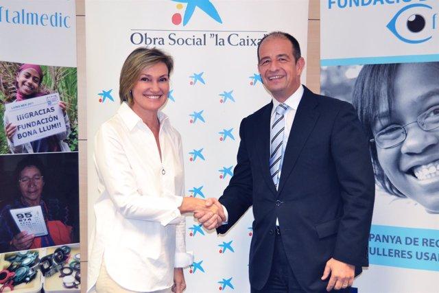 Convenio entre Caixa y la Fundació Oftalmedic