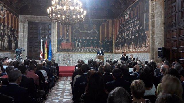 Puig en el discurso institucional por el 9 d'Octubre