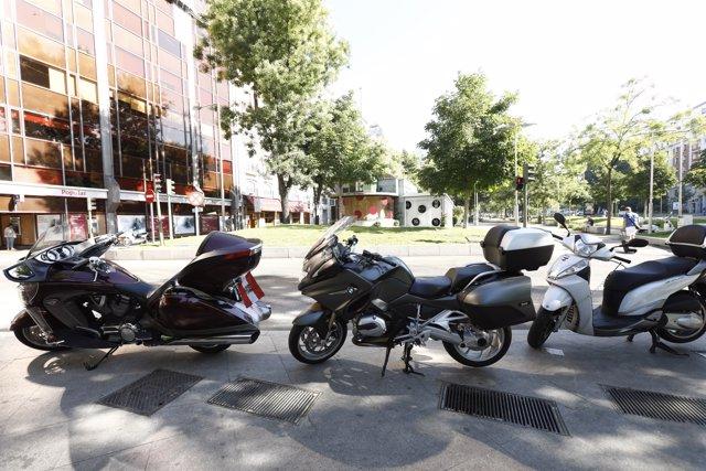 Motos, motocicletas, Madrid, transporte, tráfico