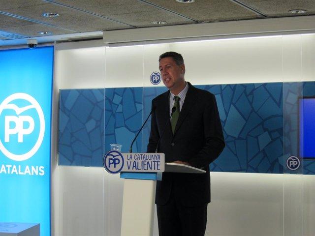El presidente del PP catalán, Xavier García Albiol