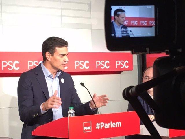 Pedro Sánchez (PSOE) Miquel Iceta (PSC)