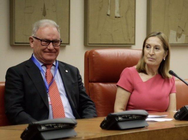 Ana Pastor y Nel González,acto en el Congreso con motivo del Día de Salud Mental