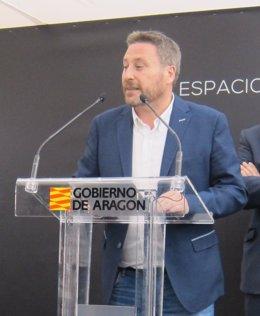 José Luis Soro, en un acto este lunes en el Espacio Aragón