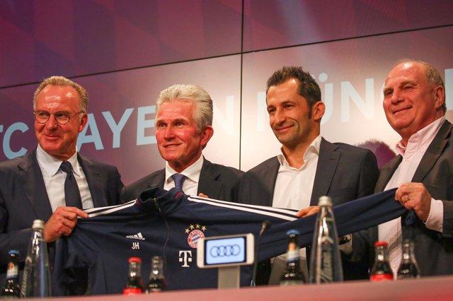 Jupp Heynckes, presentado en el Bayern