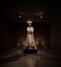 Imagen de jesús cautivo en Ars Málaga expuesto tras su restauración