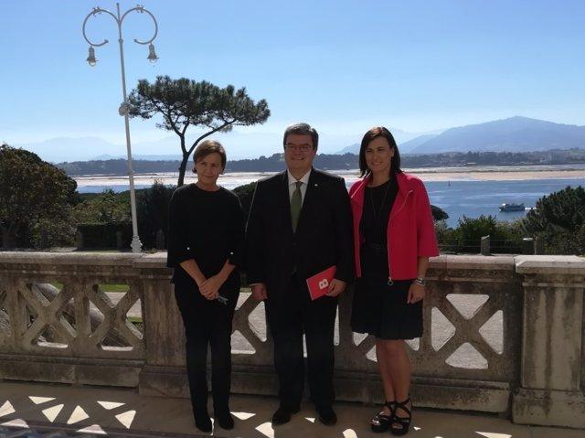 Los alcaldes de Santander, Bilbao y Gijón