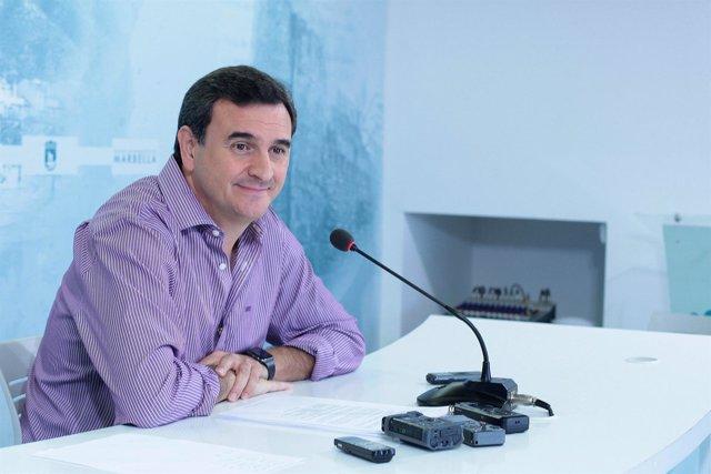 Felix Romero en rueda de prensa en Marbella