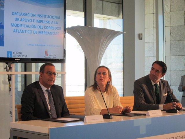 Los responsables de infraestructuras de Asturias, Galicia y Castilla y León