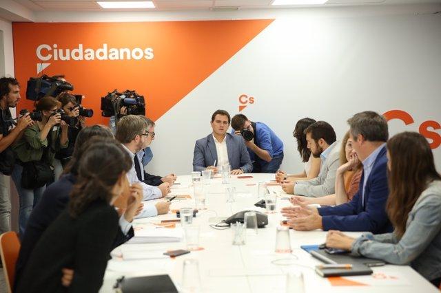 Albert Rivera preside la reunión del Comité Ejecutivo Nacional de Ciudadanos