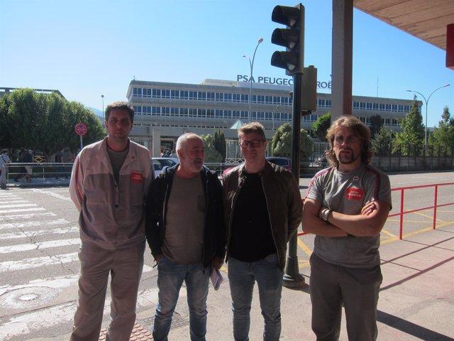 CIG y CUT inician el sábado en PSA en Vigo huelga.