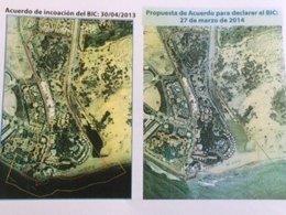 Zona afectada del BIC Oasis Maspalomas