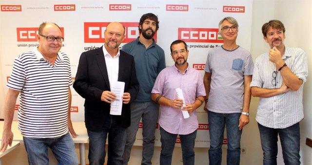 Nota De Prensa Y Foto De Ccoo De Sevilla. Reunión Pge Con Partidos