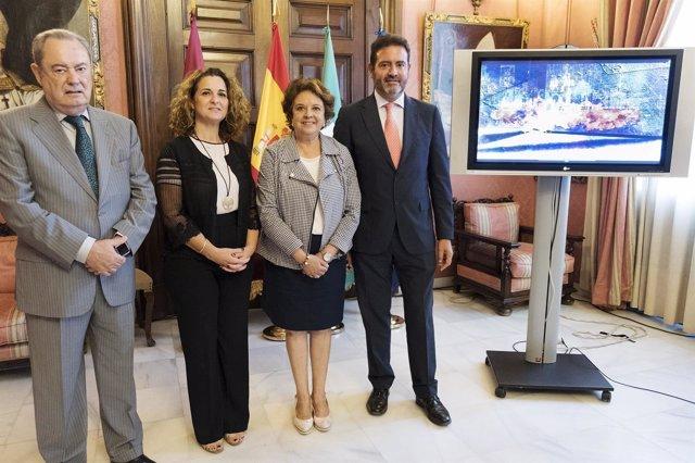 Sevilla 09/10/2017 La Delegada Municipal De Economía, Comercio Y Relaciones Inst