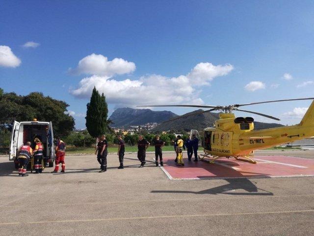 Rescate de uan senderista en el Montgó