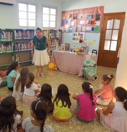 Niños lectura cuentacuentos bibliotecas actividad diputación cultura