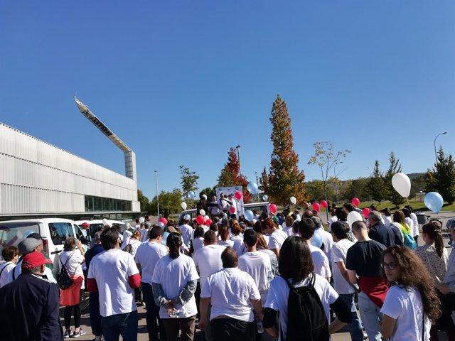 Participantes en la Marcha por la Salud Mental.