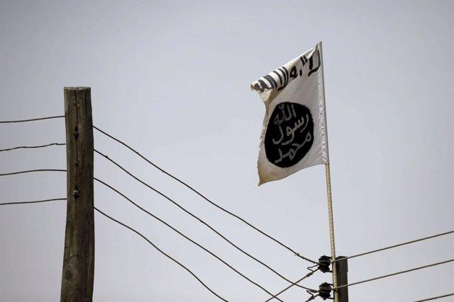 Una bandera de Boko Haram en Damasco, imagen de archivo