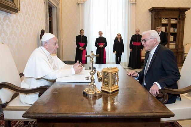 El Papa se reúne con el presidente alemán Frank Walter Steinmeier