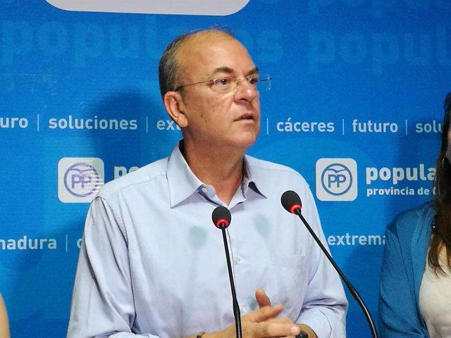 El presidente del PP en Extremadura, José Antonio Monago