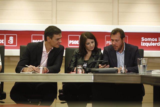 Pedro Sánchez encabeza la reunión de la Comisión Permanente del PSOE en Ferraz