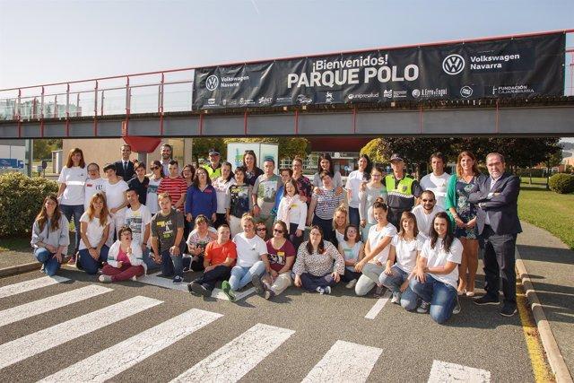 Programa 'Juntos nos movemos' en el Parque Polo de Volkswagen Navarra.