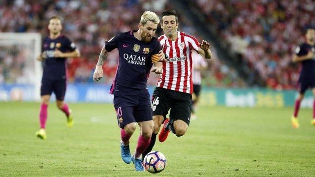 Messi en el Athletic Club - Barcelona