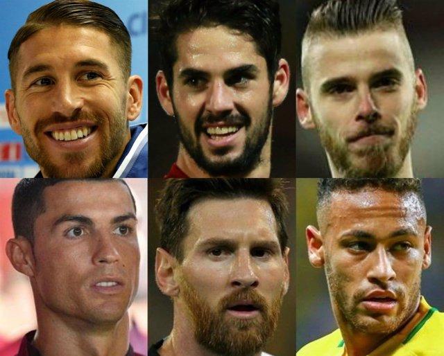 Balón Oro Sergio Ramos Isco David de Gea Cristiano Messi Neymar