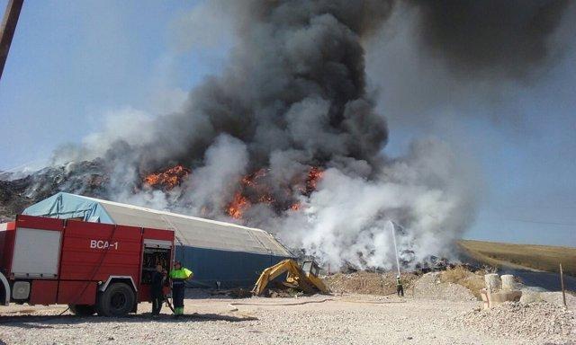 Incendio en la planta de reciclaje de Córdoba
