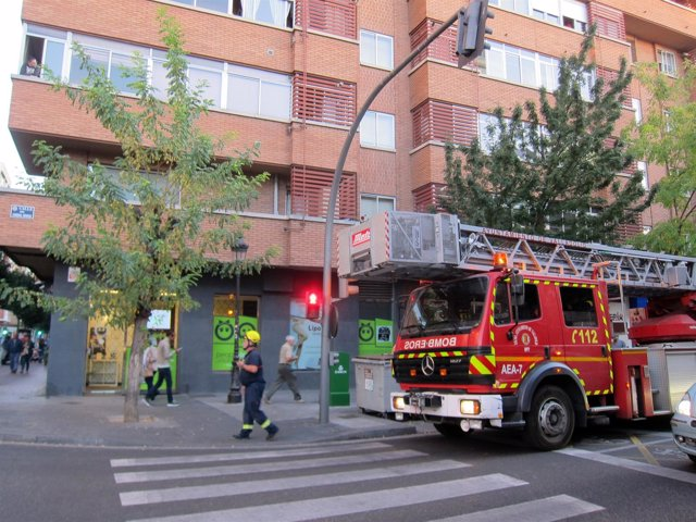 Escenario del accidente en la residencia Belardes.