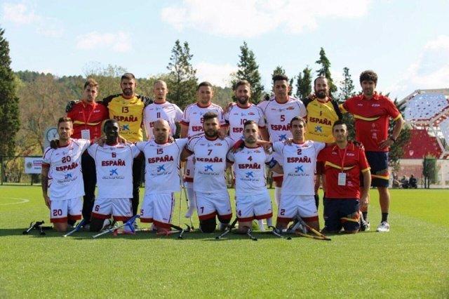 Selección española fútbol amputados Europeo