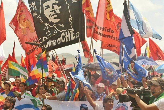 Homenaje a Ernesto 'Che' Guevara en Bolivia