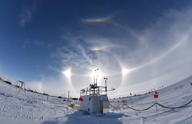 Medición en la Antártida Occidental